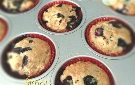 Low fat blueberry muffin 5